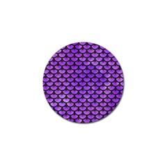 Scales3 Black Marble & Purple Watercolor Golf Ball Marker (10 Pack) by trendistuff