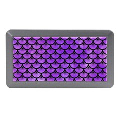 Scales3 Black Marble & Purple Watercolor Memory Card Reader (mini) by trendistuff