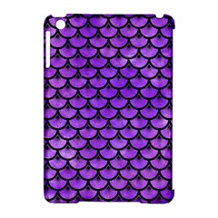 Scales3 Black Marble & Purple Watercolor Apple Ipad Mini Hardshell Case (compatible With Smart Cover) by trendistuff