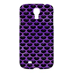Scales3 Black Marble & Purple Watercolor (r) Samsung Galaxy S4 I9500/i9505 Hardshell Case by trendistuff