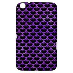 Scales3 Black Marble & Purple Watercolor (r) Samsung Galaxy Tab 3 (8 ) T3100 Hardshell Case  by trendistuff
