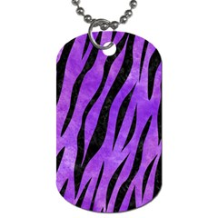 Skin3 Black Marble & Purple Watercolor Dog Tag (one Side)