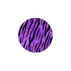 Skin3 Black Marble & Purple Watercolor Golf Ball Marker by trendistuff
