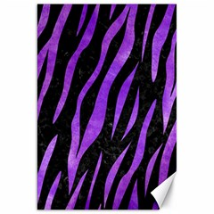 Skin3 Black Marble & Purple Watercolor (r) Canvas 20  X 30   by trendistuff