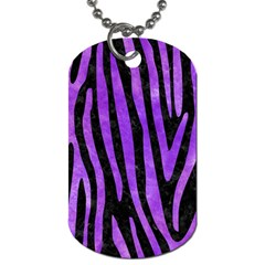 Skin4 Black Marble & Purple Watercolor Dog Tag (one Side)