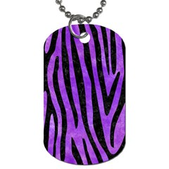 Skin4 Black Marble & Purple Watercolor (r) Dog Tag (one Side)