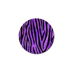 Skin4 Black Marble & Purple Watercolor (r) Golf Ball Marker (10 Pack) by trendistuff