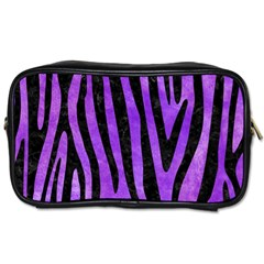 Skin4 Black Marble & Purple Watercolor (r) Toiletries Bags by trendistuff