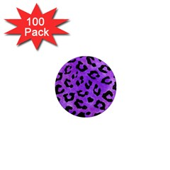 Skin5 Black Marble & Purple Watercolor (r) 1  Mini Magnets (100 Pack)  by trendistuff
