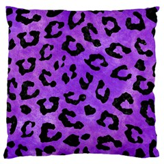 Skin5 Black Marble & Purple Watercolor (r) Standard Flano Cushion Case (two Sides) by trendistuff