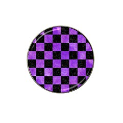 Square1 Black Marble & Purple Watercolor Hat Clip Ball Marker (10 Pack) by trendistuff