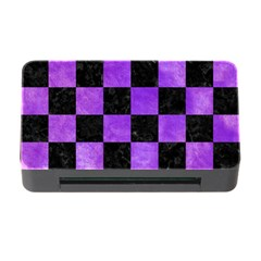 Square1 Black Marble & Purple Watercolor Memory Card Reader With Cf by trendistuff