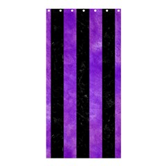 Stripes1 Black Marble & Purple Watercolor Shower Curtain 36  X 72  (stall)  by trendistuff