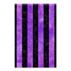Stripes1 Black Marble & Purple Watercolor Shower Curtain 48  X 72  (small)  by trendistuff