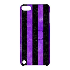 Stripes1 Black Marble & Purple Watercolor Apple Ipod Touch 5 Hardshell Case With Stand by trendistuff