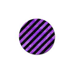 Stripes3 Black Marble & Purple Watercolor (r) Golf Ball Marker by trendistuff
