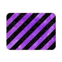 Stripes3 Black Marble & Purple Watercolor (r) Double Sided Flano Blanket (mini)  by trendistuff