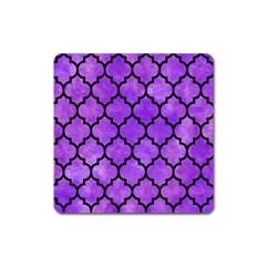 Tile1 Black Marble & Purple Watercolor Square Magnet by trendistuff