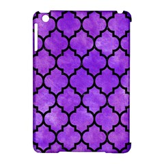Tile1 Black Marble & Purple Watercolor Apple Ipad Mini Hardshell Case (compatible With Smart Cover) by trendistuff