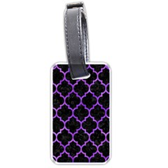 Tile1 Black Marble & Purple Watercolor (r) Luggage Tags (two Sides) by trendistuff