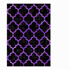 Tile1 Black Marble & Purple Watercolor (r) Small Garden Flag (two Sides) by trendistuff