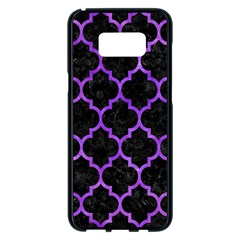 Tile1 Black Marble & Purple Watercolor (r) Samsung Galaxy S8 Plus Black Seamless Case by trendistuff