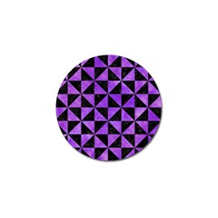 Triangle1 Black Marble & Purple Watercolor Golf Ball Marker by trendistuff