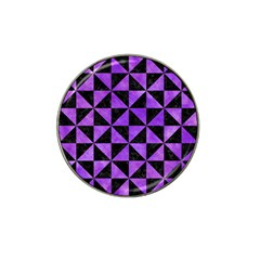 Triangle1 Black Marble & Purple Watercolor Hat Clip Ball Marker (10 Pack) by trendistuff