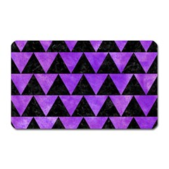 Triangle2 Black Marble & Purple Watercolor Magnet (rectangular) by trendistuff