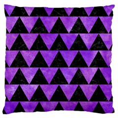 Triangle2 Black Marble & Purple Watercolor Large Cushion Case (two Sides) by trendistuff