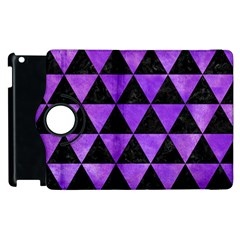 Triangle3 Black Marble & Purple Watercolor Apple Ipad 2 Flip 360 Case by trendistuff