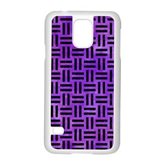 Woven1 Black Marble & Purple Watercolor Samsung Galaxy S5 Case (white) by trendistuff