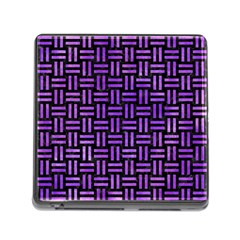 Woven1 Black Marble & Purple Watercolor (r) Memory Card Reader (square) by trendistuff