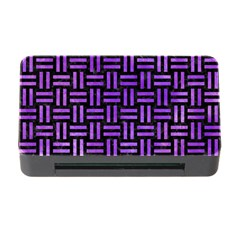 Woven1 Black Marble & Purple Watercolor (r) Memory Card Reader With Cf by trendistuff