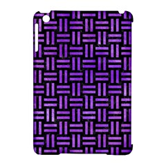 Woven1 Black Marble & Purple Watercolor (r) Apple Ipad Mini Hardshell Case (compatible With Smart Cover) by trendistuff