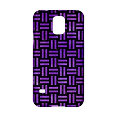 Woven1 Black Marble & Purple Watercolor (r) Samsung Galaxy S5 Hardshell Case  by trendistuff