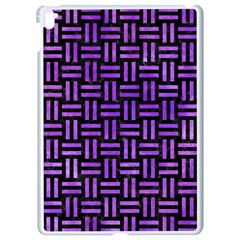 Woven1 Black Marble & Purple Watercolor (r) Apple Ipad Pro 9 7   White Seamless Case by trendistuff