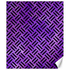 Woven2 Black Marble & Purple Watercolor Canvas 20  X 24   by trendistuff