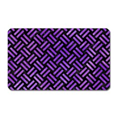 Woven2 Black Marble & Purple Watercolor (r) Magnet (rectangular) by trendistuff