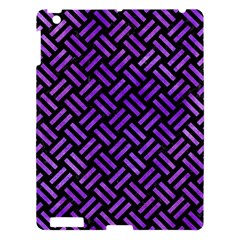 Woven2 Black Marble & Purple Watercolor (r) Apple Ipad 3/4 Hardshell Case by trendistuff
