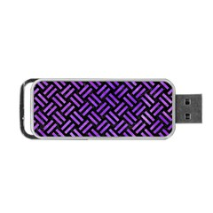 Woven2 Black Marble & Purple Watercolor (r) Portable Usb Flash (two Sides) by trendistuff