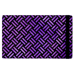 Woven2 Black Marble & Purple Watercolor (r) Apple Ipad 2 Flip Case by trendistuff