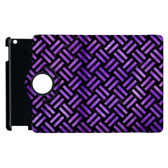 Woven2 Black Marble & Purple Watercolor (r) Apple Ipad 2 Flip 360 Case by trendistuff