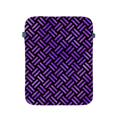 Woven2 Black Marble & Purple Watercolor (r) Apple Ipad 2/3/4 Protective Soft Cases by trendistuff