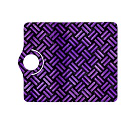 Woven2 Black Marble & Purple Watercolor (r) Kindle Fire Hdx 8 9  Flip 360 Case by trendistuff