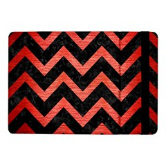 Chevron9 Black Marble & Red Brushed Metal (r) Samsung Galaxy Tab Pro 10 1  Flip Case by trendistuff