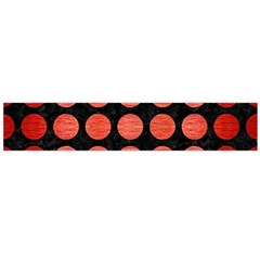 Circles1 Black Marble & Red Brushed Metal (r) Flano Scarf (large) by trendistuff