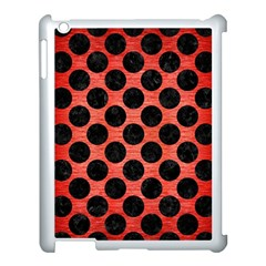Circles2 Black Marble & Red Brushed Metal Apple Ipad 3/4 Case (white) by trendistuff