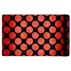 Circles2 Black Marble & Red Brushed Metal (r) Apple Ipad Pro 12 9   Flip Case by trendistuff