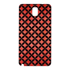 Circles3 Black Marble & Red Brushed Metal Samsung Galaxy Note 3 N9005 Hardshell Back Case by trendistuff